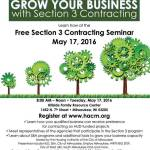 Free Section 3 Contracting Seminar May 17