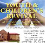 Youth & Children's Revival May 23, 24, 25