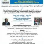 Ceremony Renaming Silver Spring School to Marvin Pratt Elementary School on July 15