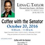 Coffee With The Senator on October 20
