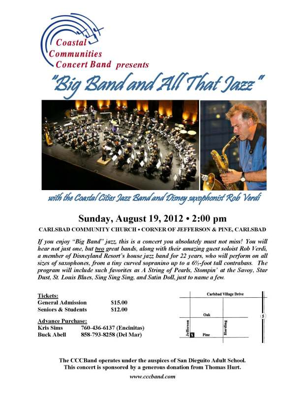 Coastal Communities Concert Band Summer Pops Concert