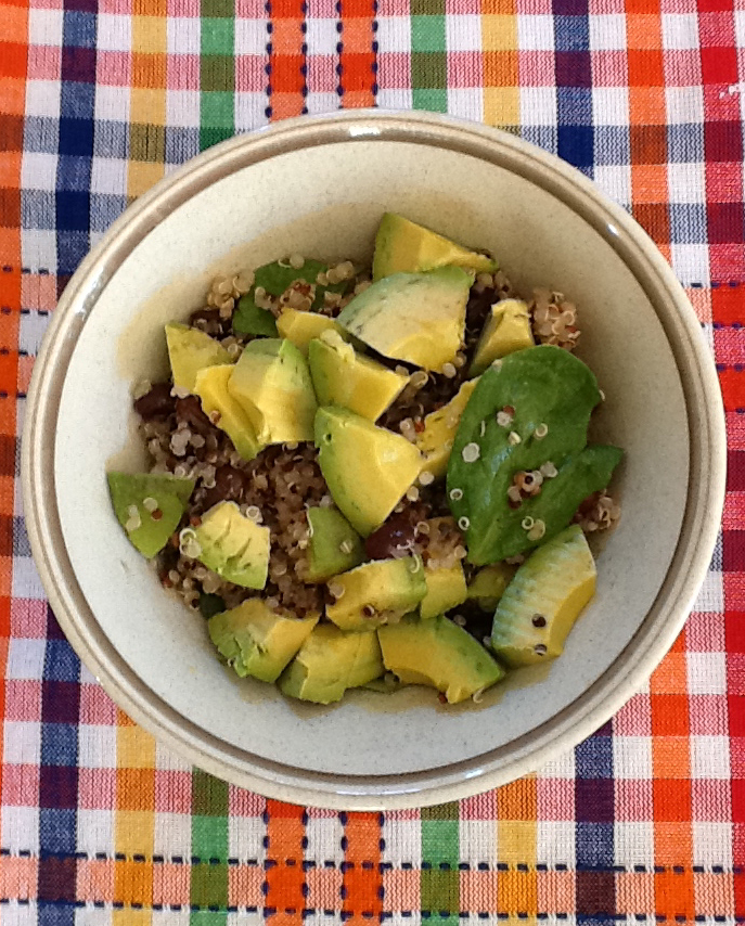 healthy quinoa salad with avocados
