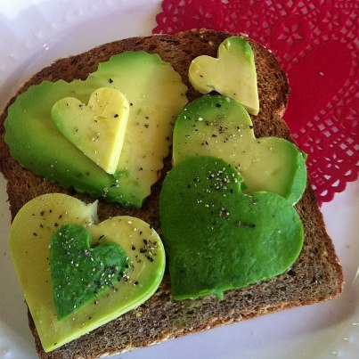 An avocado valentine