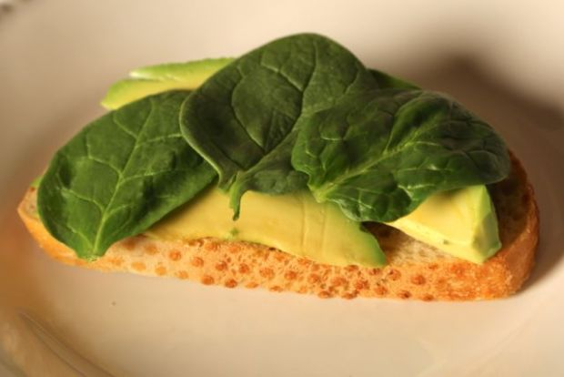 spinach and avocado toast
