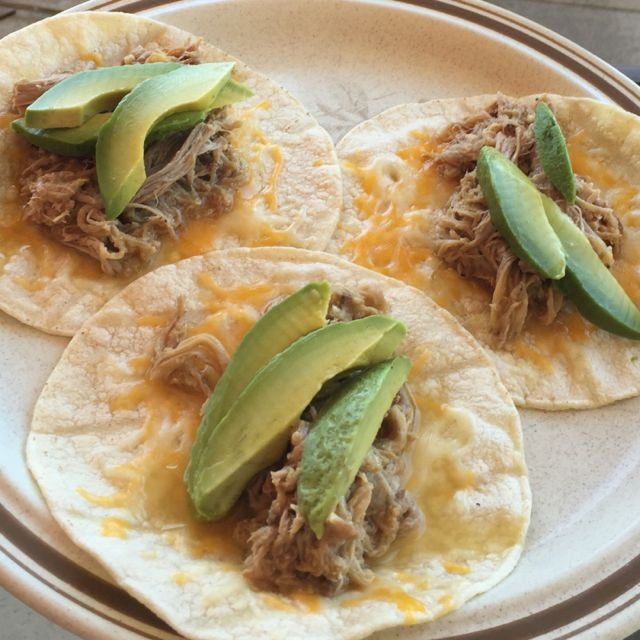 Homemade Carnitas Tacos with Avocado for Cinco de Mayo