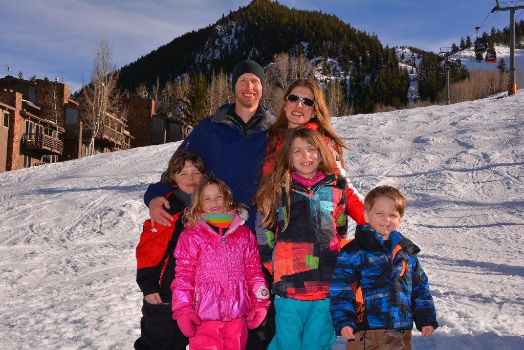 Family photo on Aspen Mountain