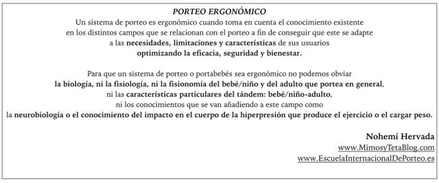 Porteo ergonómico