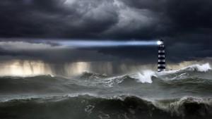 Faro tormenta