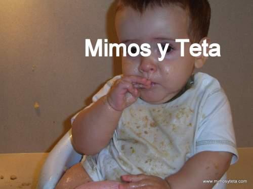 9 meses- Así acaba un niño que come un plato de potaje con las manos...