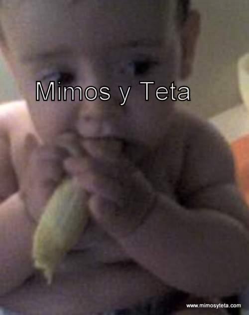 7 meses-Comiendo 1 plátano