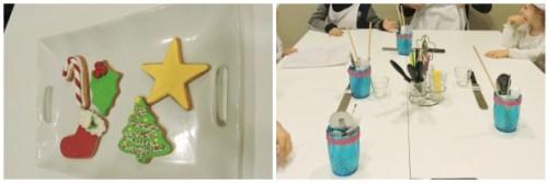 Las galletas que ibamos a preparar y los utensilios de trabajo preparaditos