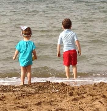 Foto de mis niños en el mar