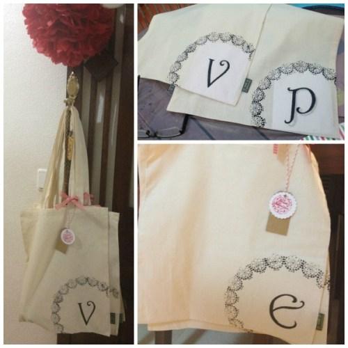 foto de las bolsas pintadas