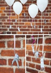 Fotos y globos crean un efecto muy simpático para  nuestras fiestas