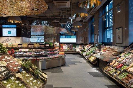 supermarket interior design lighting