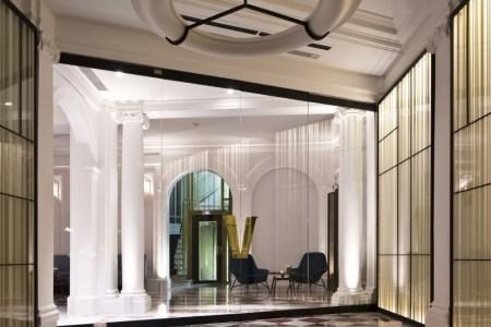 hotel interior design stair lighting