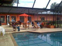 Lunch at the pool.