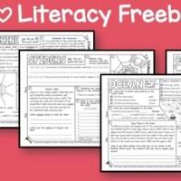 Grab Your I Heart Literacy Freebie!