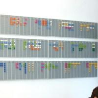 Un planning mural en Lego