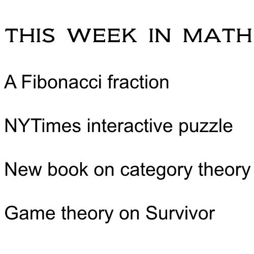 This Week In Math