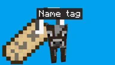 【マインクラフト PE PC】名札を使って名前を付ける方法と裏ワザ2つ