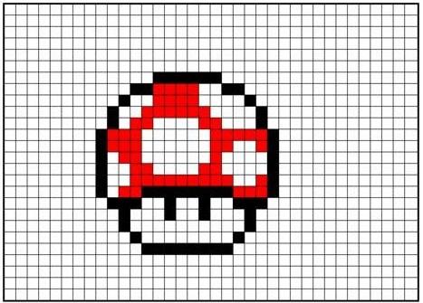 Mario Red Mushroom Minecraft Building Inc
