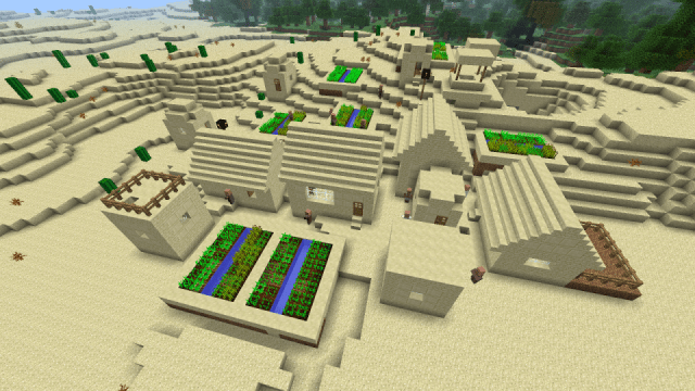 [PC 1.5] Desert village with weird cactus