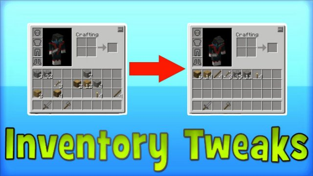 how to move things into your inventory in minecraft