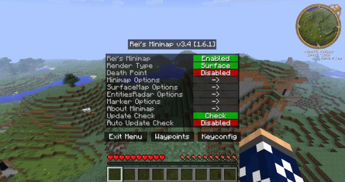 minecraft 1 8 9 minimap