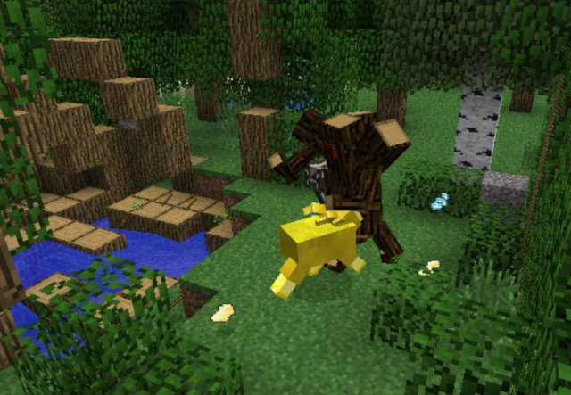 how to make mobs fight each other in minecraft