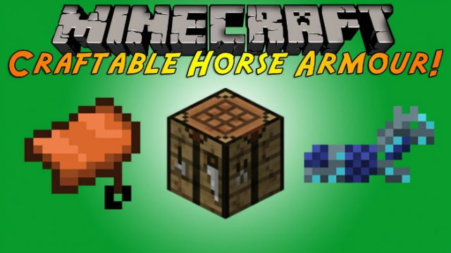 Craftable Horse Armour Amp Saddle Mod For Minecraft 1 9 1 8