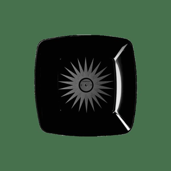 Mineira-Embalagens-Prato-Lanche-Quadrado-18cm-Preto-Strawplast