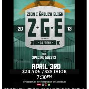 2013 ZION I Poster