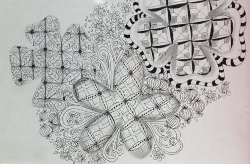 zentangle bijou tile