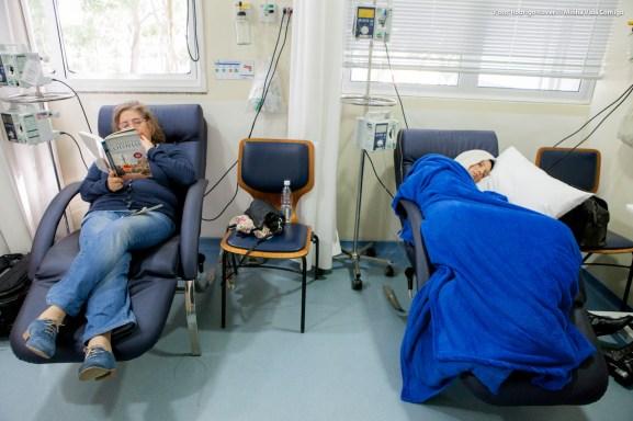 ultima Quimioterapia com a cia da mae