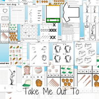 Take Me Out To The Ballgame! #Free 35 Pages of Baseball Theme Educational Printables