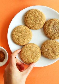 Fashionable Vanilla Extract Grabbing A Vegan Pumpkin Sugar Cookie From A Plate Vegan Pumpkin Sugar Cookies Minimalist Baker Recipes Sugar Cookies Without Butter Eggs Sugar Cookies Without Butter