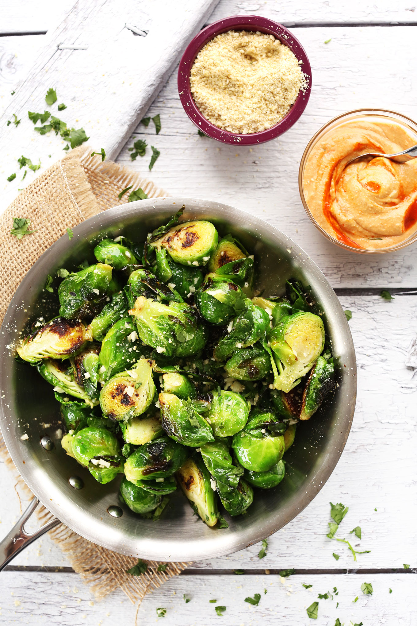 Precious A Bite Sriracha Aioli Tender 30 Minute Crispy Brussels Sprouts Appetzier Or Healthier Side Dish Vegan Glutenfree How Long To Cook Brussel Sprouts How Long To Cook Brussel Sprouts On Stove nice food How Long To Steam Brussel Sprouts