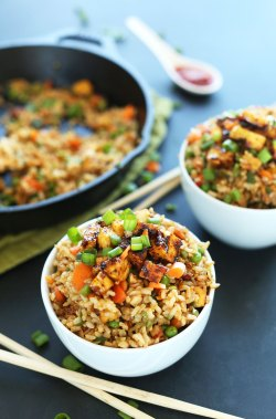 Sterling Our Healthy Fried Rice One Easy Sunday Dinner Casserole Bowls A Vegan Meal Vegan Fried Rice Minimalist Baker Recipes Easy Sunday Dinner Crispy Tofu