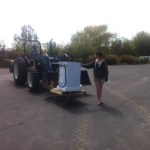 It's handy to have a dad with a tractor.