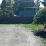 This is the far back corner where I would park my house
