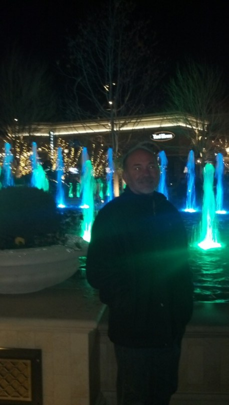 My brothers and I took a little trip to the new town center too, it is a pretty bumping place, the restaraunts all had 2.5-3 hour waits so we just tooled around and went to our favorite Thai place for dinner.  Here is Jeff in front of one of the best fountains in the country apperently, According to the developer the motor on this fountain is more powerful than the Bellagio.  They aare also in the process of putting in an outdoor ice skating rink, that will be pretty cool to check out :)