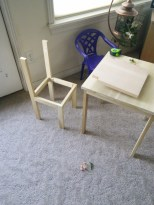 The chairs were a little more complex....