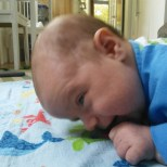 Little man loves his tummy time but its HARD work!