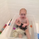 still doing baths in the tupperware