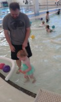 Hazel got to go swimming at the Y