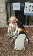 Then we took a little trip to the zoo... here hazel is showing me that she can read, she knows, 'don't get on here...'