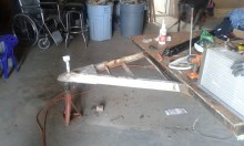 Started with the final demo... removing all the pieces parts of the trailer and sanding it down.