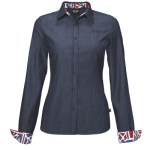 MINI Ladies Denim Business Blouse sleeve up (08/2011)