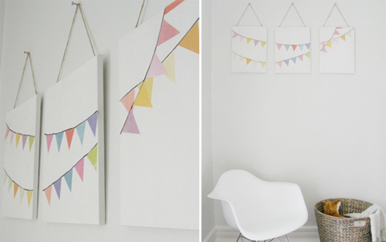 Mini Piccolini - DIY Bunting Art